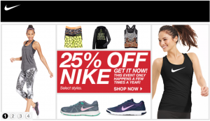 Find extremely discounted Nike gear at Macy's this holiday season.
