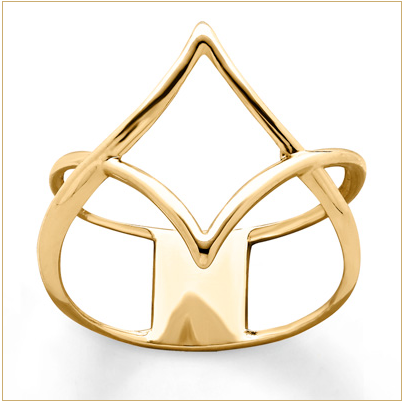 TRIANGLE RING 10K YELLOW GOLD