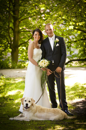 Newlyweds & dog