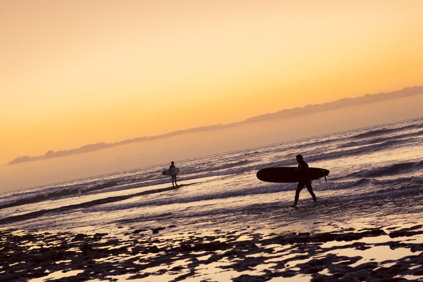 Surfing in Canary Islands