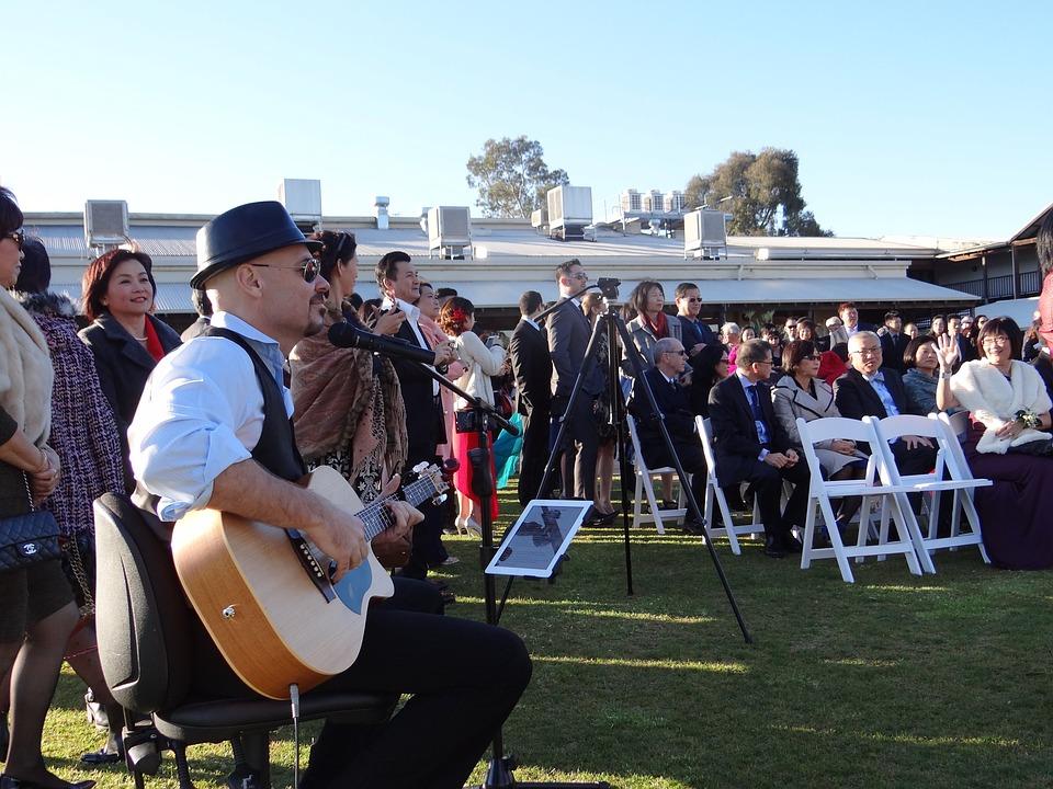 Outdoor wedding music