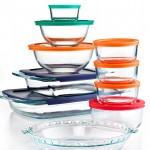 Pyrex 19 Piece Bake Storeand Prep Set with Matching Lids