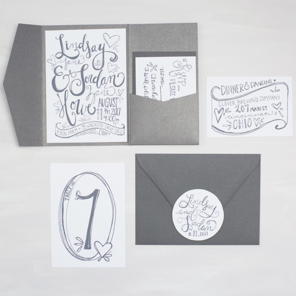 Specialty printing - hand lettering