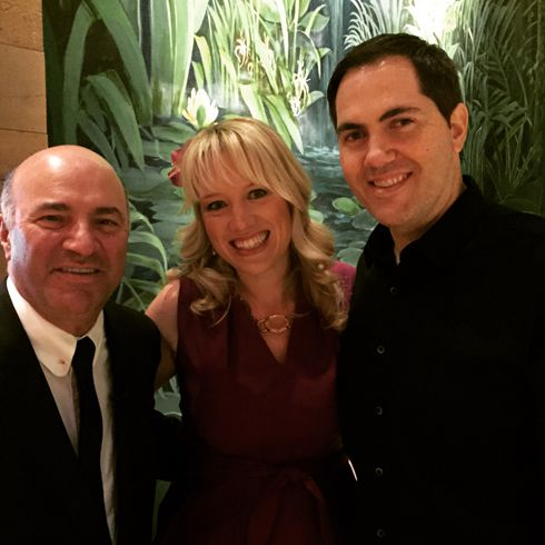 Kevin O'Leary with Sara and Josh Margulis