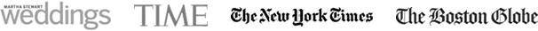 Martha Stewart Weddings, Time, The New York Times, The Boston Globe